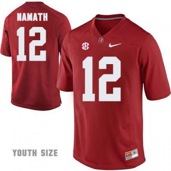 los angeles 3555d 4f4fc Joe Namath Alabama Jersey #12 Alabama Crimson Tide ...